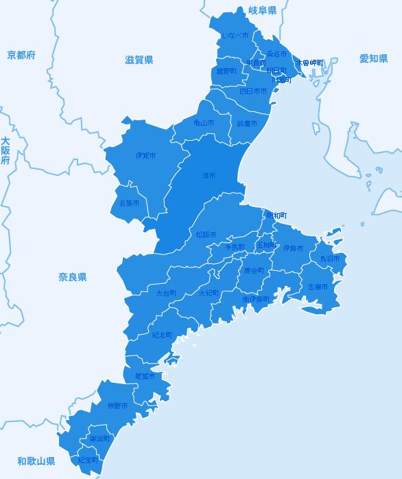 三重県の地図画像