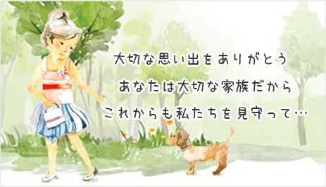 ペットの犬を散歩している女の子